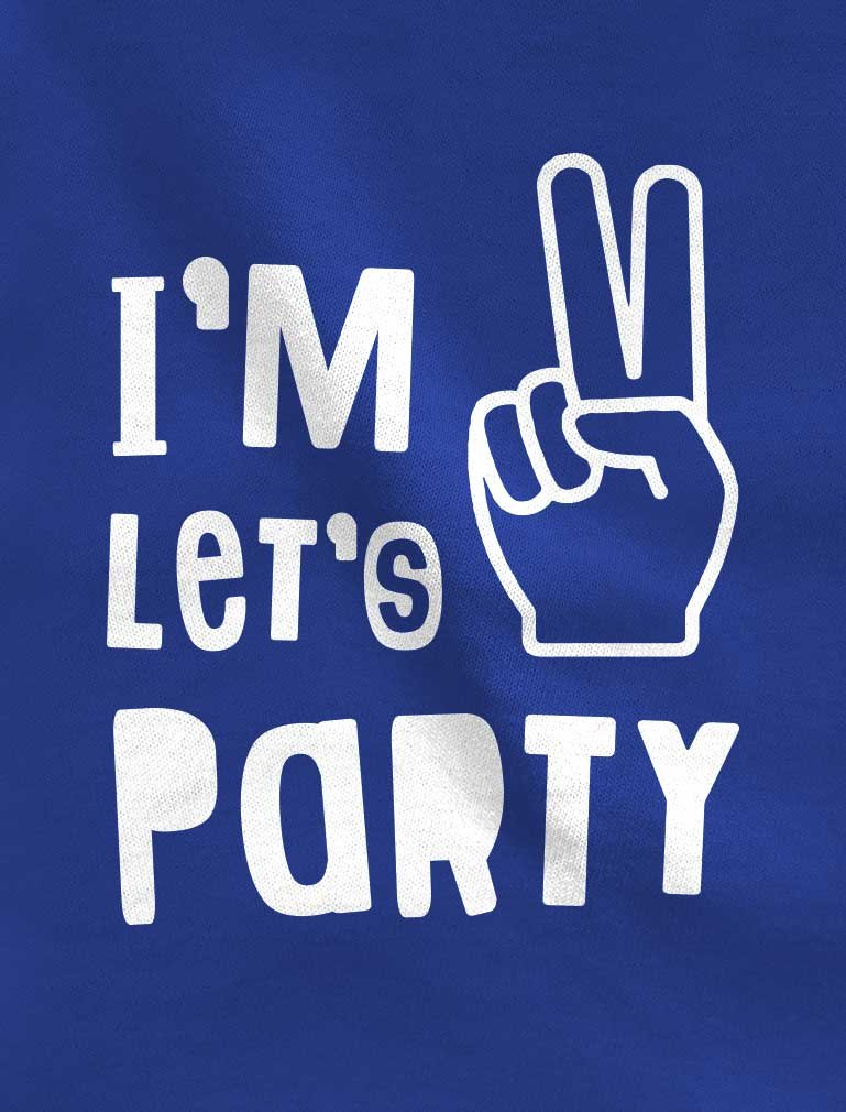 TeeStars – I'm Two Let's Party Cute 2nd Birthday Gift Toddler Jersey T-Shirt