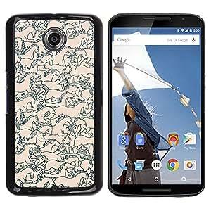 Be Good Phone Accessory // Dura Cáscara cubierta Protectora Caso Carcasa Funda de Protección para Motorola NEXUS 6 / X / Moto X Pro // Peach Pink Floral Pattern Pastel