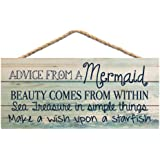 Always be Yourself Unless You can be a Mermaid Then Always be a Mermaid 5 x 10 Wood Plaque Sign SJT ENTERPRISES INC SJT13507