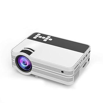 SHMTYUU Proyector 1080P Proyector de Video HD Tamaño de Pantalla ...