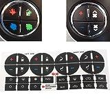 GZYF AC Dash Button Repair Kit Decal Stickers