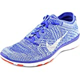 Nike Free 4.0 Flyknit Women's Running Shoes, 7.5, Racer Blue/White-Bright Crimson