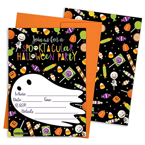 Halloween Party Invitation Cards with Envelopes, 12 Count