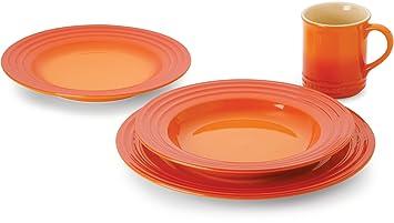 Le Creuset Stoneware 16-Piece Dinnerware Set Flame  sc 1 st  Amazon.ca & Le Creuset Stoneware 16-Piece Dinnerware Set Flame: Amazon.ca: Home ...