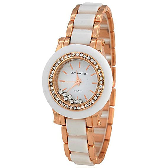 Limitada de oro rosa Reloj mujer delicado mujeres Mujer Diamante Relojes Taladro: Amazon.es: Relojes