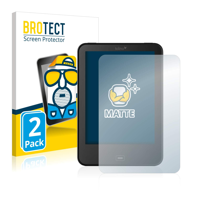 2 Pi/èces - Anti-Reflet BROTECT Protection Ecran Mat pour Tolino Vision 4 HD Anti-Rayures