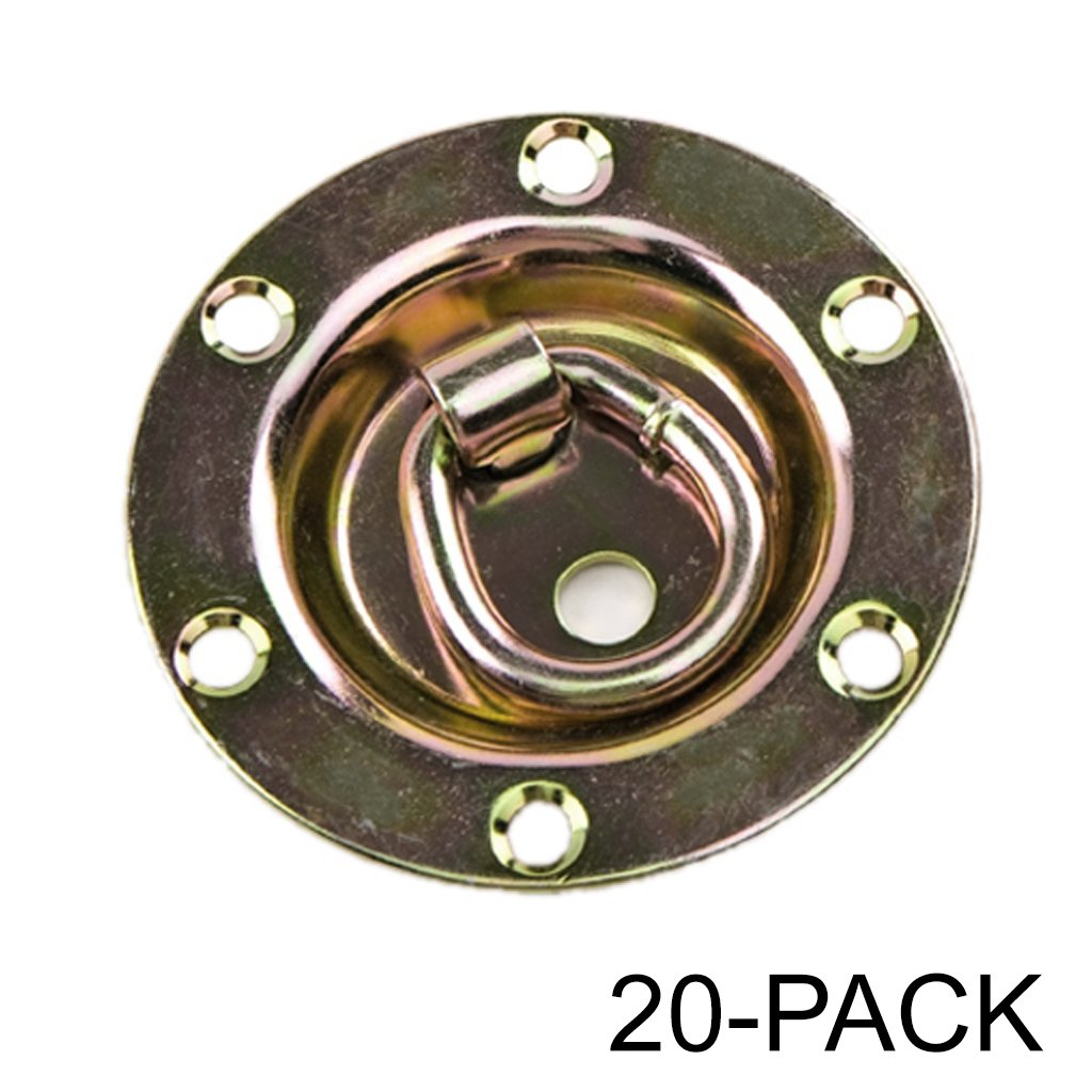 Capacity Tiedowns Gold 2 Pack Rotating//Recessed D-ring 3,500 lb