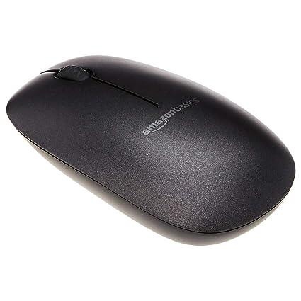 fbe879151e2 Amazon.com: AmazonBasics Slim Wireless Bluetooth Mouse, Black: Computers &  Accessories