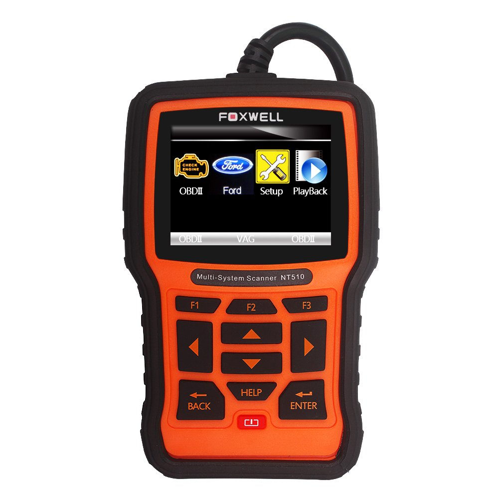 FOXWELL NT510 Automotive OBD II Diagnostic Tool Ford Lincoln Mercury Multi-System Code Scanner with Engine ABS SRS Oil Light Service Functions