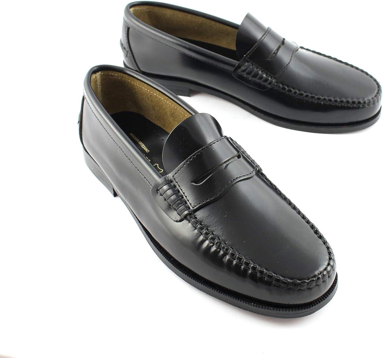 Marttely Herren Leder Anzugschuhe braun Loafer mit Ledersohlen Handmade Mokassins