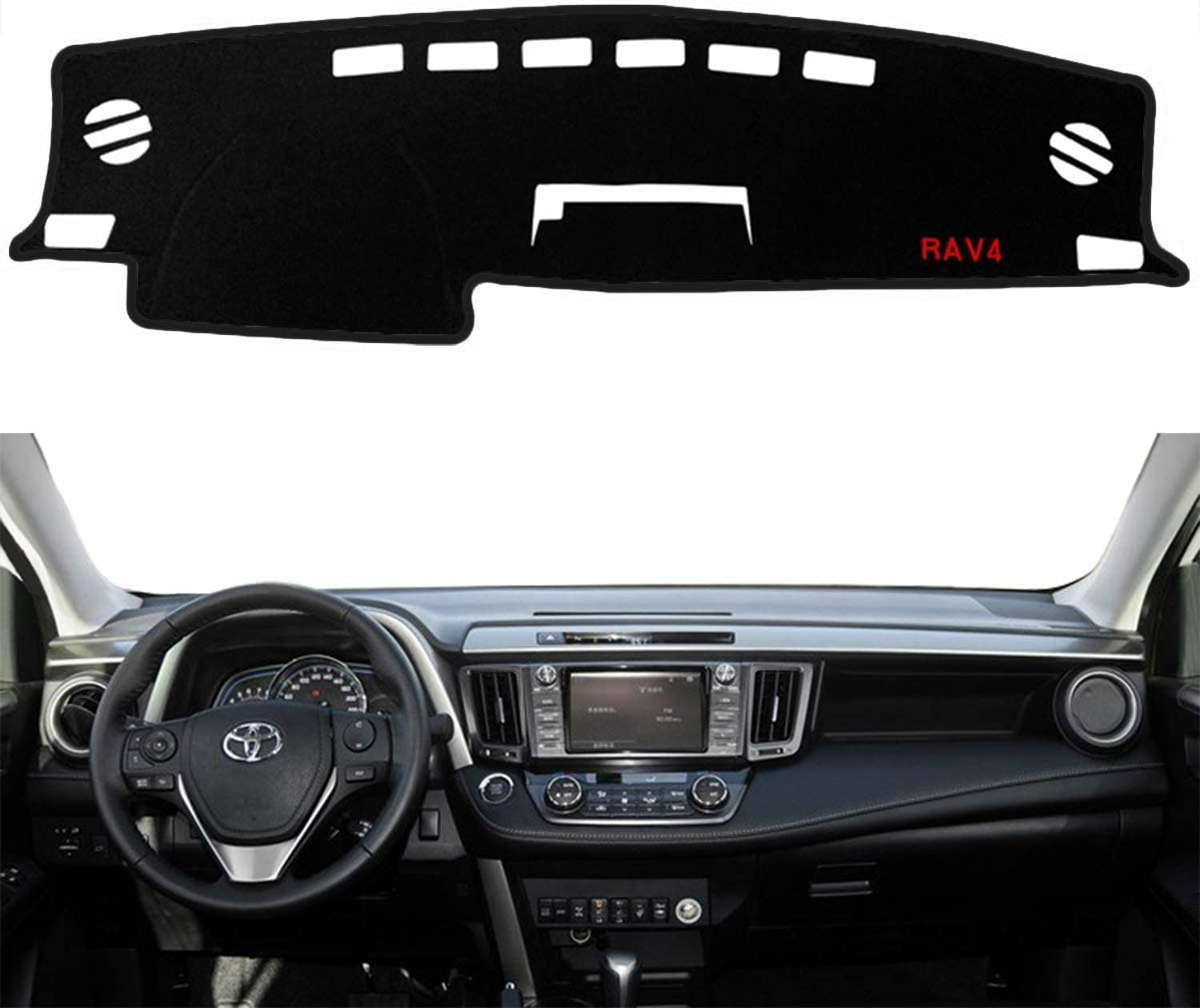 Yeeoy Custom Dashboard Dash Protector Dash Mat Sun Cover Pad Replacement for 2014-2018 RAV4