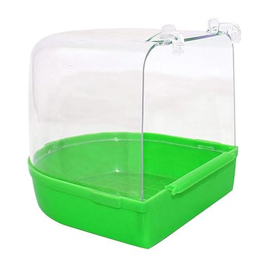 Jaula de plástico para colgar loros, bañera, jaula para pájaros ...