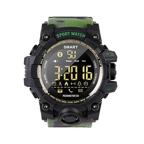 YWYU La Moda Relojes Deportivos Digitales Relojes Militares y cronómetro Luminoso Impermeable Impermeable Alarma Reloj Deportivo