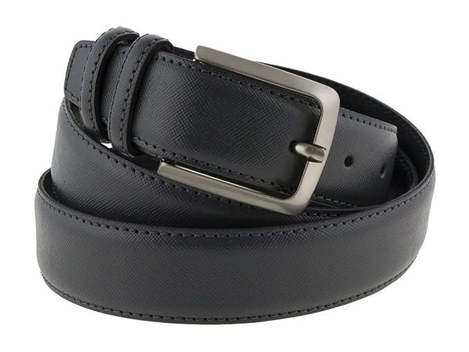 come acquistare migliori scarpe da ginnastica comprare in vendita Cintura uomo in pelle grigio, artigianale, modello Prada, made in ...