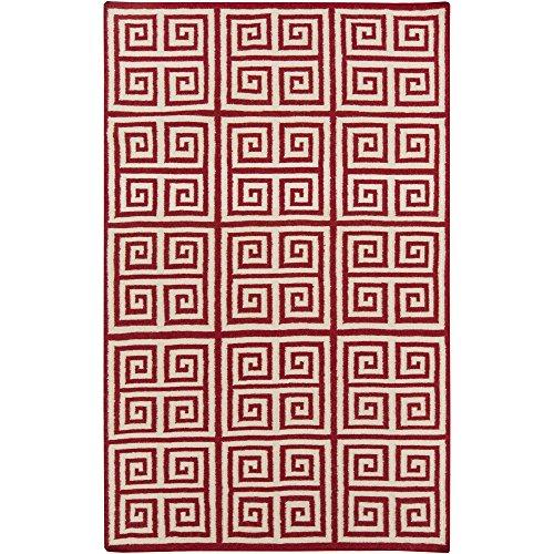 Venetian Red Wool - Surya Frontier FT-418 Flatweave Hand Woven 100% Wool Venetian Red 2' x 3' Global Accent Rug