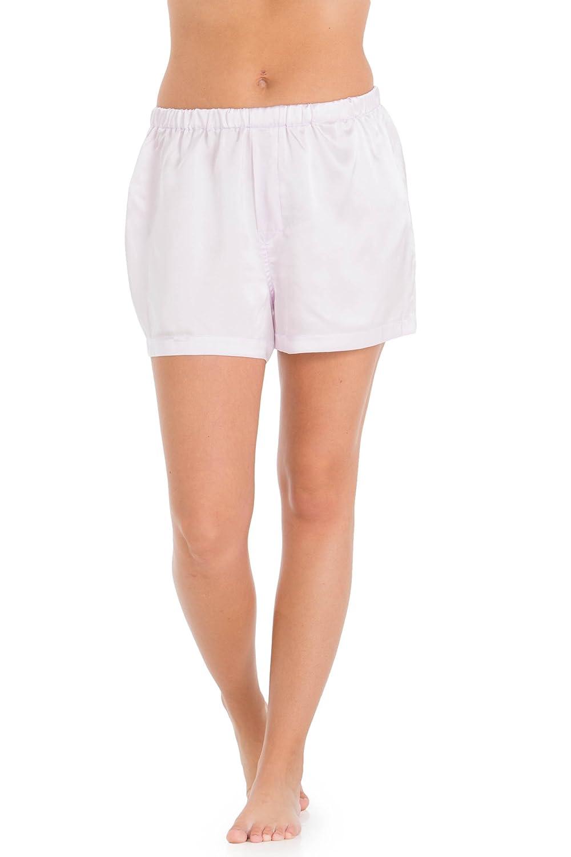 Fishers Finery Women's 100% Mulberry Silk Boxer; Sleepwear; Lounge Shorts