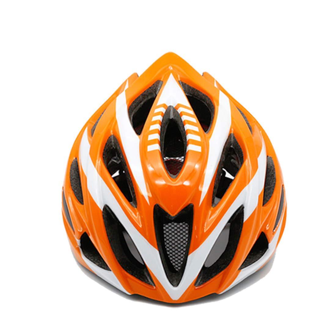 CAFUTY 大人用自転車ヘルメット自転車乗馬ヘルメット自転車安全ヘルメット屋外用サイクリング愛好家に適して (Color : オレンジ)   B07PLCWF7F