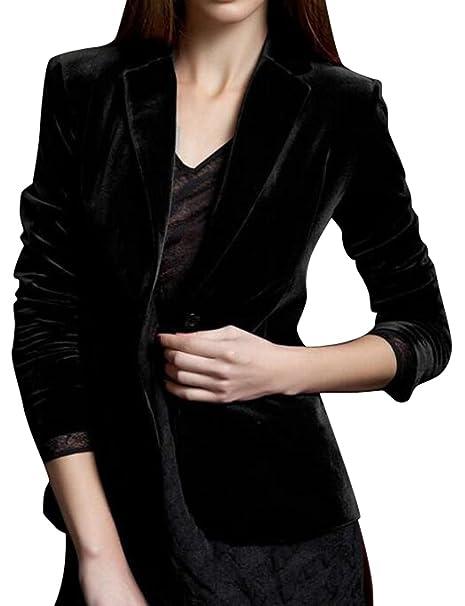 Amazon.com: sytx para mujer un botón Blazer traje chamarra ...