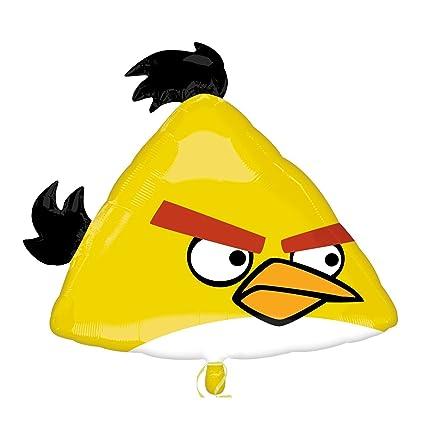 Yellow Angry Bird Mylar Balloon