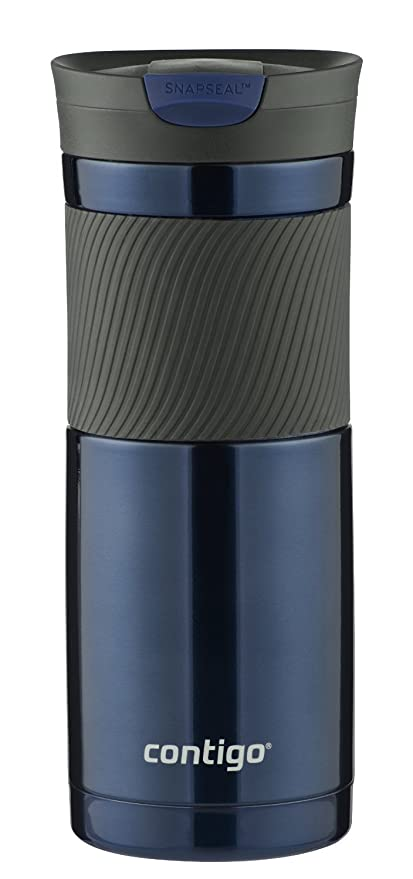 Contigo SnapSeal Byron Vacuum-Insulated Stainless Steel Travel Mug, 20 oz, Monaco