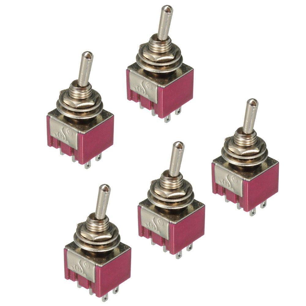 Supmico 5 X On/Off mini miniatura piccolo interruttore auto del cruscotto del precipitare 2 Pin metallo