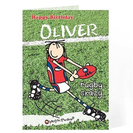Bang en la tarjeta de Rugby para puerta de Regalos tarjetas ...