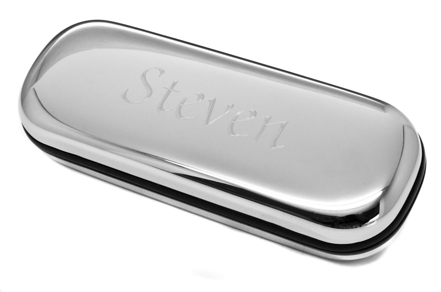 Personalised Polished Silver Glasses Case for Spectacles or Sunglasses Engraved