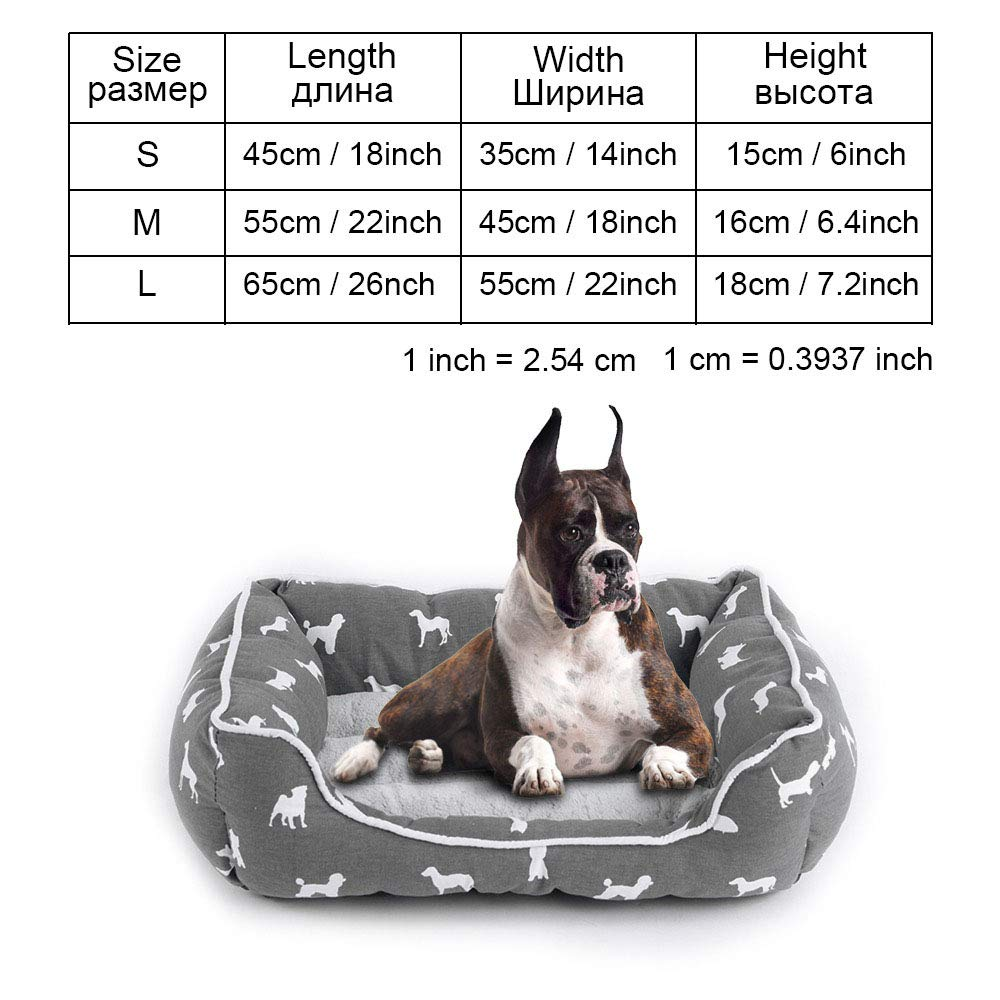 Greypy0104 M as picturesCookisn Dog Bed Bench Dog Beds Mats for Small Medium Large Dogs Puppy Bed Cat Pet Kennel Lounger Dog Bed Sofa House for Cat Pet Products greycoo039 M