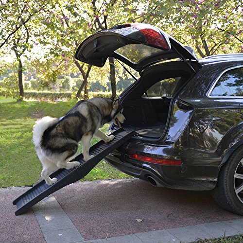 Generic l Steps Stairsck SUV Ramp Truck 60'' Folding Pet SUV Stairs Ramps Dog Portable Travel Steps Stairs 60'' Folding Pet Ramps Dog by Generic