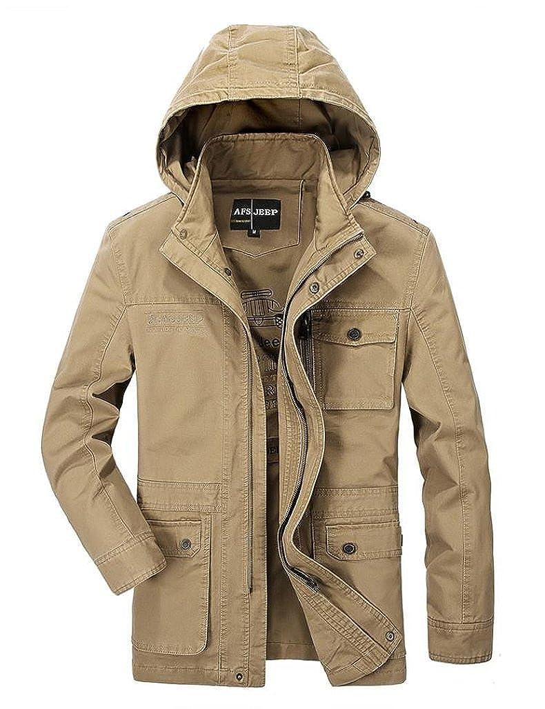AFS JEEP AFSJEEP Hombre Casual Chaquetas Outwear Otoño 100% algodón 327: Amazon.es: Ropa y accesorios