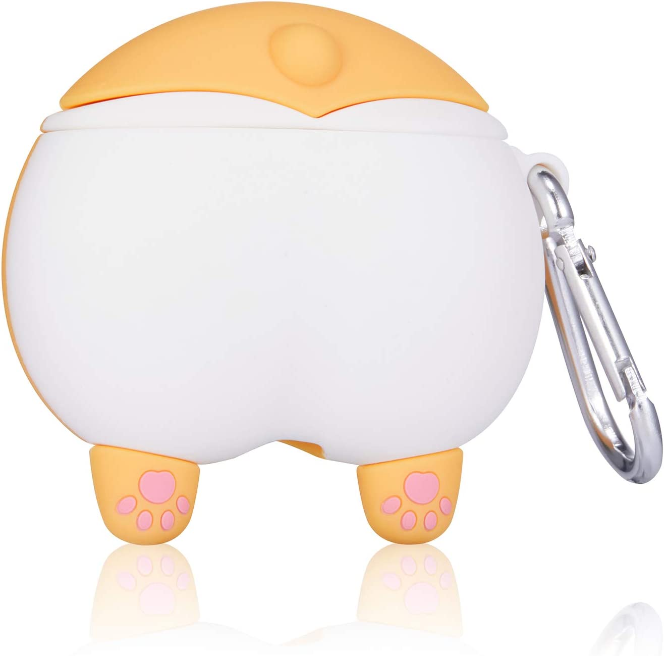 Cute Funny Animal Pattern Design for Girls Boys Kids Accessories Carabiner Protective Fun Fashion Character Skin Soft Silicone Cover for Air pods 2//1 Gift-Hero Corgi PP Cartoon Case for Airpods