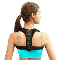 Corrector de postura - Pesoo Corrección de la postura de espalda para mujeres, hombres y adolescentes Alivio del dolor de hombros, cuello Ajustable y cómodo dispositivo de soporte para clavícula de la parte superior de la espalda APROBADO POR LA FDA