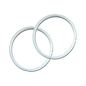 Instant Pot Electric Pressure Cooker OFFICIAL Silicone Sealing Ring set. Two Pack, 5/6 Qt size
