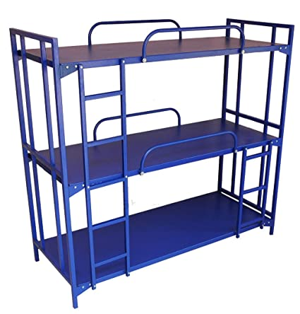 Sahay Single Size 3 Tier Metal Bunk Bed Glossy Painting