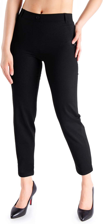 Yogipace Women's Petite/Regular/Tall Dress Pants Skinny Pant Yoga Work Leggings
