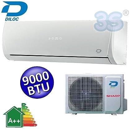 Aire acondicionado inverter mono split CONCEPT 4.0 Diloc 9000 Btu - Clase A++ / A+ -