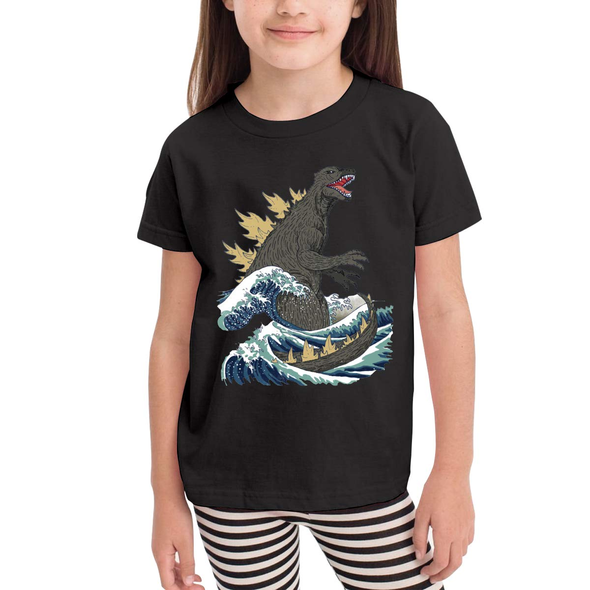 Kaddias The Great God Zilla Off Kanagawa Infant Soft Short Sleeve Tshirt 1502