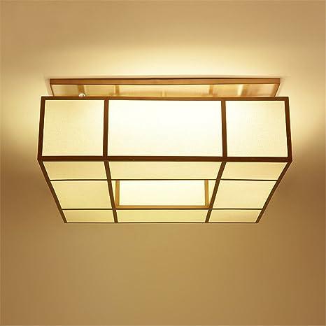BRIGHTLLT Nuevo salón chino lámpara de techo cuadrado telas ...