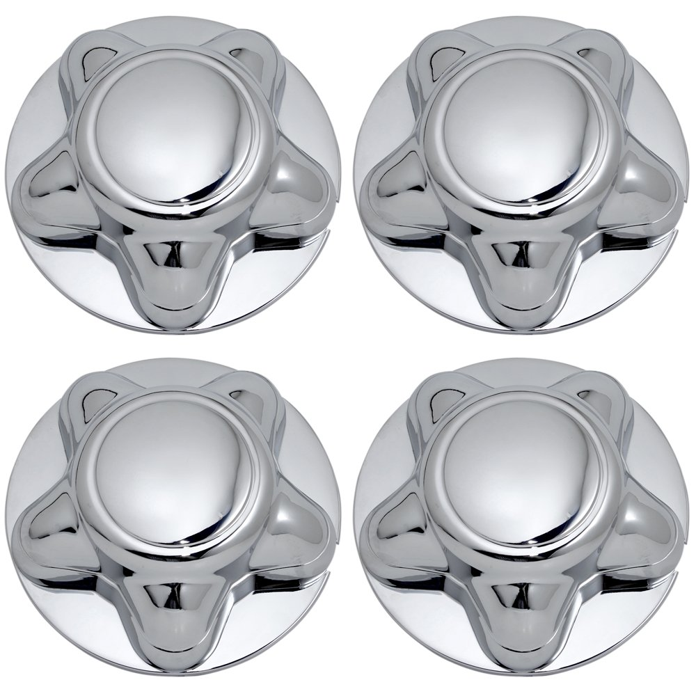 OxGord Center Caps for Select Ford Lincoln Trucks Van SUV Chrome (Set of 4) 16 and 17 inch Wheel Cover