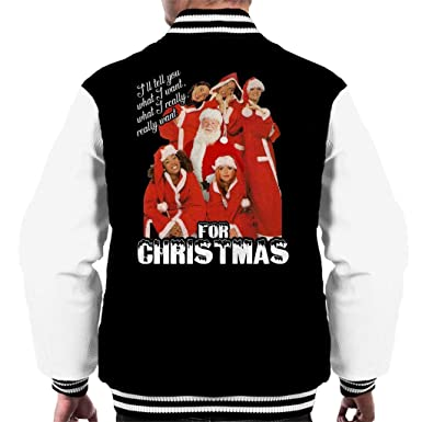 Coto7 Spice Girls Ill Tell You What I Want For Christmas Mens Varsity Jacket: Amazon.es: Ropa y accesorios