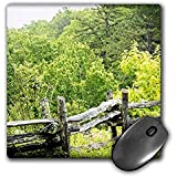 WhiteOaks Photography and Artwork - Nature Scene - Old Wooden Fence is a nature scene in the mountains of a fence - MousePad