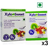 Xlear XyloSweet Xylitol Natural Sugarfree Sweetener 10 Sachets (4 GMS Each), 3 Pack