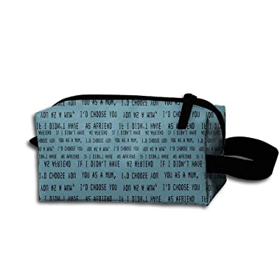 If I Didn't Have You As A Mum Unisex Portable Travel Hanging Make-up Bag Pouch Bag For Sport Gym Outdoor
