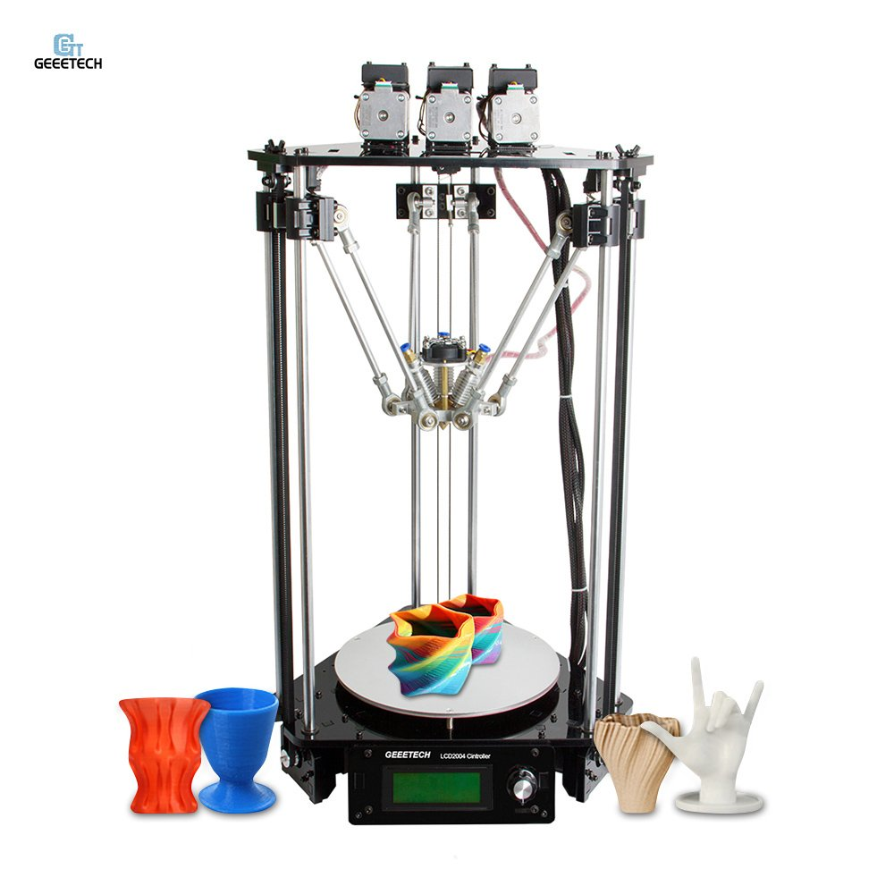 Geeetech Rostock 301 Mix Color FDM 3D Printer DIY Kit 3-in-1-out Triple-color Printer with 0.4mm Nozzle 1.75mm Filament Diameter