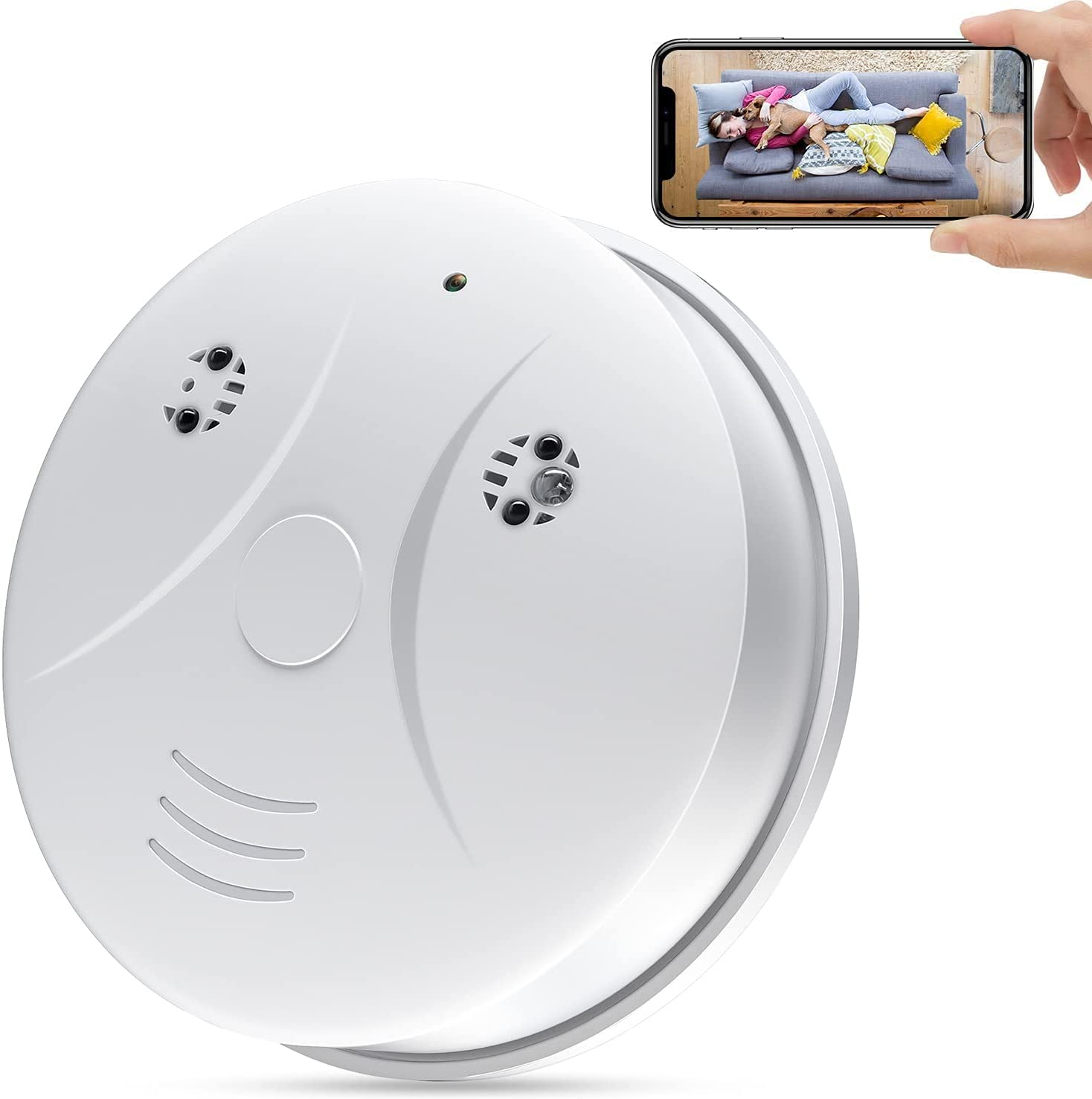4K Hidden Camera Smoke WiFi,1080P HD Baby Monitor Wireless Mini Spy Camera with Night Vision and Motion Sensing, Security Camera for Home Office