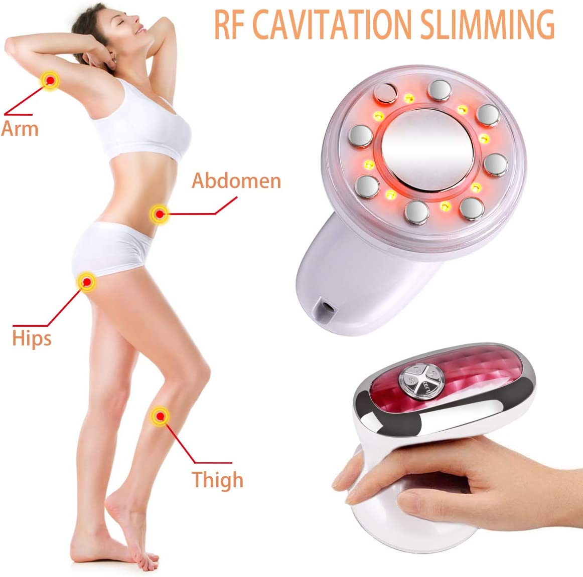 Fat Remove Massager Skin Care Beauty Machine Radio-Frequency 3 in 1 Multifunctional Weight Loss Device for Arm Stomach Waist Leg Hip