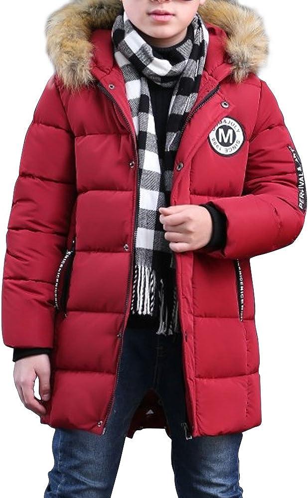parka invernale Phorecys Cappotto invernale imbottito con cappuccio in pelliccia per bambini
