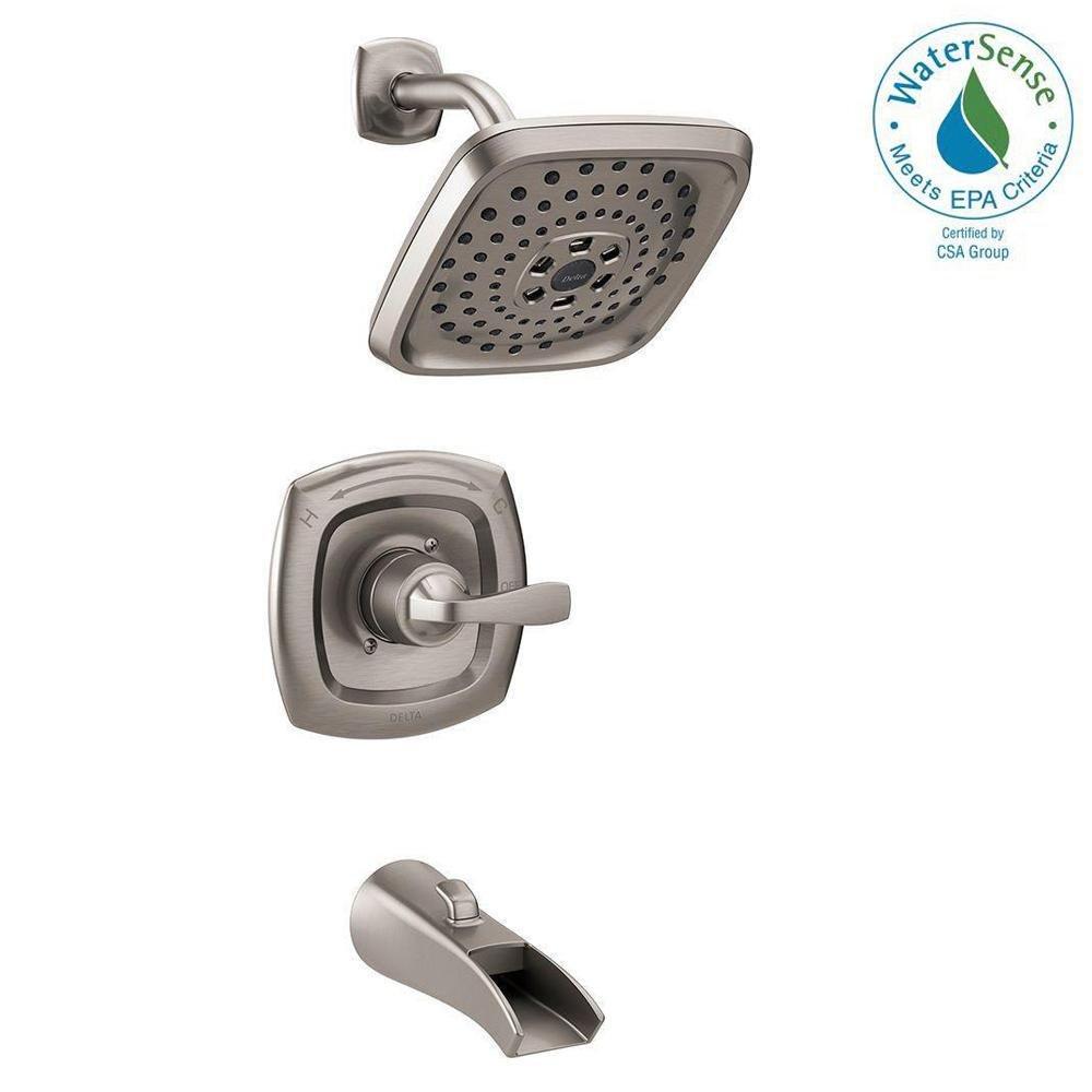 Delta Faucet Delta 144724 Ss Tolva Single Handle H2o Kinetic Tub And