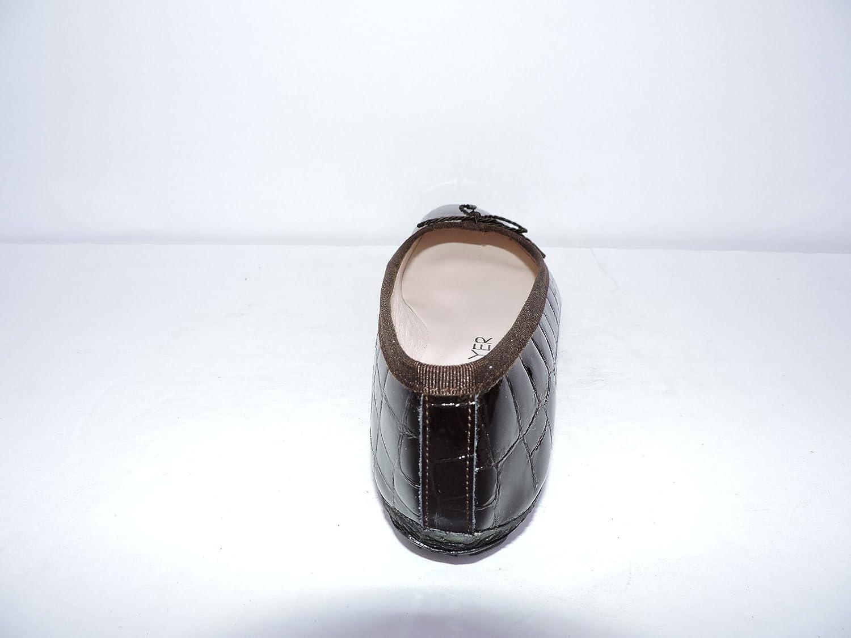 Paul Mayer Attitudes Womens Country Brown Patent Leather Croc Crocodile Ballet Flats Shoes Size 7 B