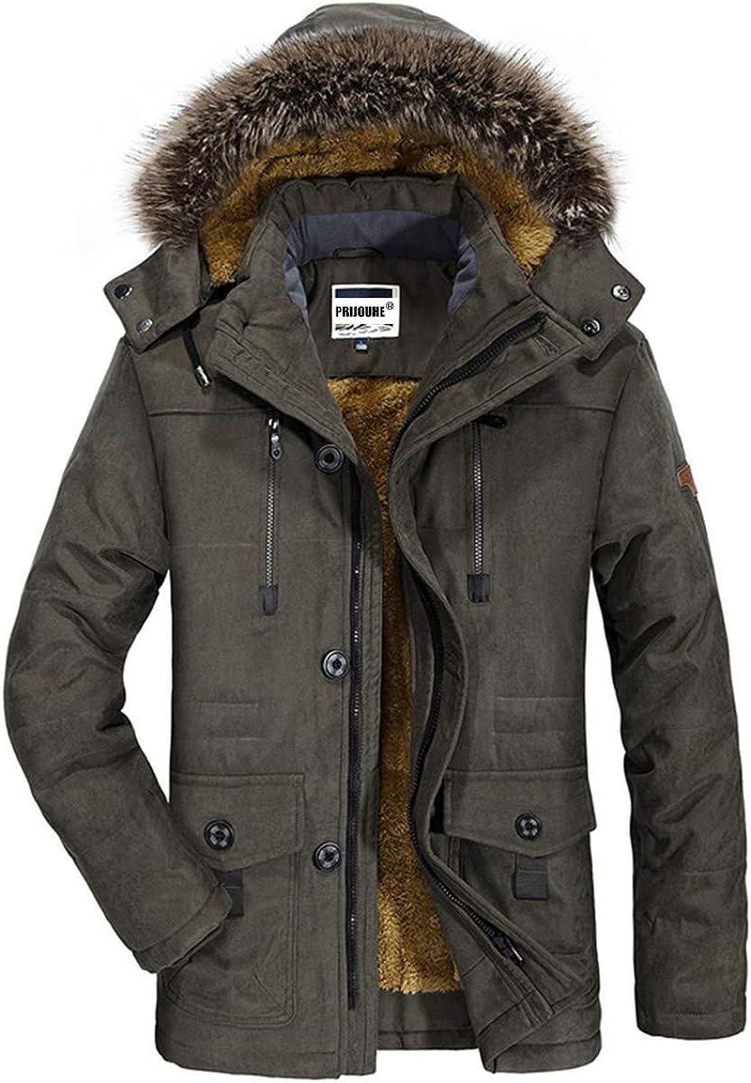 Men/'s Winter Warm Suit collar leather real fur parka Fleece trench jacket coat q
